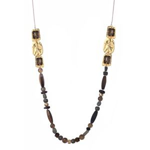 Alexis Bittar Four Stone Beaded Station Necklace